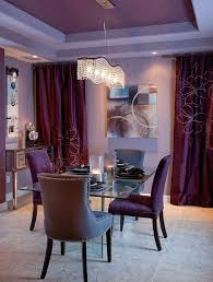 dining furniture view in gallery drapes and ceiling in purple