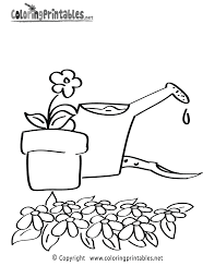 gardening coloring page a free girls coloring printable