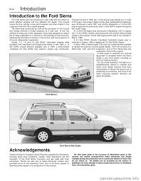 ford sierra 1986 1 g introduction workshop manual
