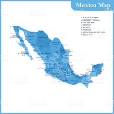 Map Of Guanajuato Mexico by The Detailed Map Of The Mexico With Regions Or States And Cities
