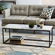 marble living room tables box frame coffee table marble antique bronze west elm