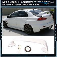 mitsubishi evo spoiler 08 17 lancer evo x mr trunk spoiler oem painted color w37 wicked