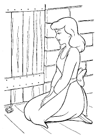 coloring cinderella coloring pages 37