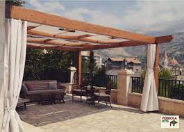 Pergola Kits Cedar by Pergola Wood Cedar Curtain Shadesail Terrace Outdoor Structure