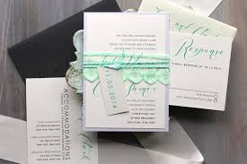 wedding invitations minted embellished wedding invitations mint green ivory