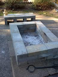 Building A Firepit Diy Square Pit Building Your Diy Square Pit With