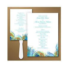 peacock wedding programs wedding programs ebay