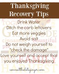 connect the dots 7 thanksgiving day recovery tips
