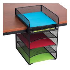 Revolving Desk Organizer by Amazon Com Safco Products 3258bl Onyx Mesh Desktop Organizer