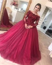 wedding dress maroon sleeves prom dress gowns prom dress burgundy wedding