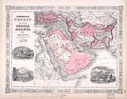 Arabia Map Large Scale Old Map Of Persia Arabia 1864 Old Maps Of Asia