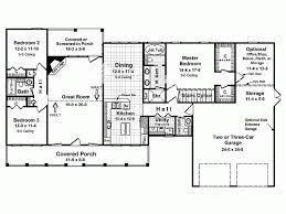 ranch floor plans with split bedrooms split bedroom country ranch 62099v 1st floor master ranch floor