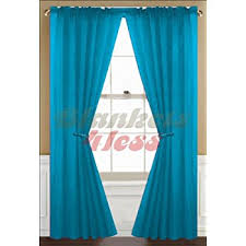 Turquoise Sheer Curtains Awad Home Fashion 2 Panels Solid Neon Turquoise Sheer
