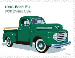 Classic Ford Truck Images - u s postal service unveils truck stamp designs overdrive