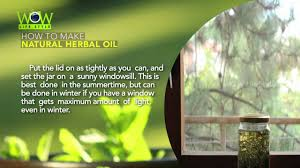 how to make natural herbal oil easy way to make at home youtube