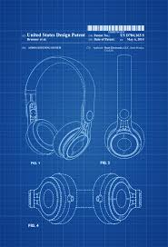 Home Theater Decor Beats Headphone Patent Patent Print Wall Decor Headphone