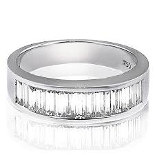 nyc wedding band men s wedding bands with baguette diamonds district nyc