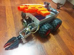 nerf car gun nerf firing rover let u0027s make robots robotshop