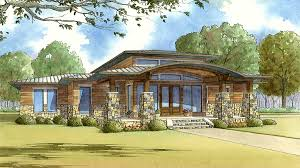 Southwest Home Plans Modern Home Plan With Wrap Around Porch 70520mk Architectural