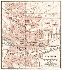 lincoln city map map of lincoln in 1906 buy vintage map replica poster print