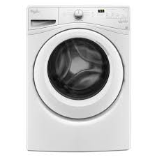 whirlpool 4 5 cu ft high efficiency front load washer in white