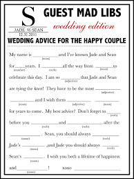 wedding mad lib template wedding mad libs template free unique guest book alternative