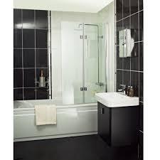 roman showers embrace bath screen inward and outward folding