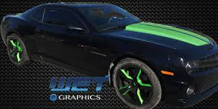 stock camaro rims custom painted stock camaro wheels in black synergy green
