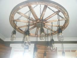 Diy Wagon Wheel Chandelier Idea For Lighting To Build Wagon Wheel Pendant Globe Lights