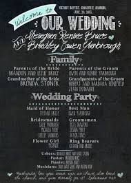 chalkboard program wedding chalkboard wedding program can be made into an invitation