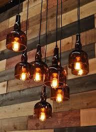 Beer Bottle Chandelier Diy Whiskey Bottle Lights With Vintage Pulley Pendant Lighting