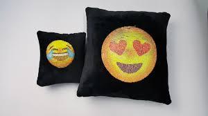 sell diy sequins home decorative pillows emoji sequins cushion