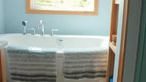 Beautiful Modern Bathrooms - luxurious modern bathroom with bathtub filling stock video footage