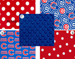 Chicago Cubs Crib Bedding Chicago Cubs Skirt Etsy