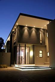 Luxury And Contemporary House Nice Lighting · Home Designs ExteriorExterior
