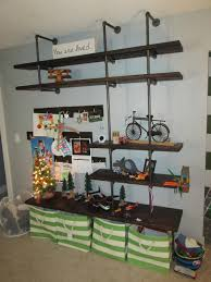 Black Pipe Shelving by The Comforts Black Pipe Shelves And Ladder