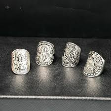 symbolic rings tibetan carved ring set silver symbolic free shipping worldwide