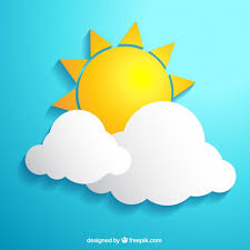 sun and clouds vector free