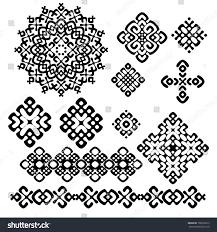 set black white geometric designs 10 stock vector 106276013