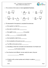 fraction and decimal worksheets for year 5 age 9 10