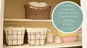 kondo organizing konmari method organization linen closet before after youtube
