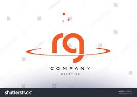 rg r g creative orange swoosh stock vector 616386785 shutterstock
