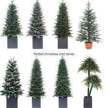 small size artificial potted indoor decorative pine trees
