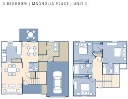 Townhouse House Plans Ncbc Gulfport U2013 Magnolia Place Neighborhood 3 Bedroom Townhouse
