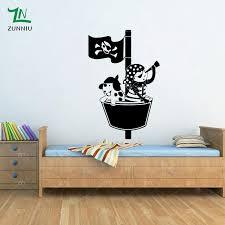 chambre pirate gar n w212 pirate capitaine wall sticker pour chambre d enfants