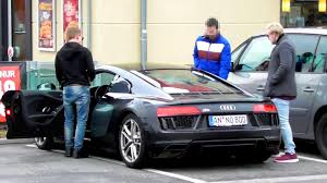 audi r8 gold epic gold digger prank audi r8 2016 rich kid youtube