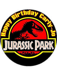 jurassic park cake topper 7 5 jurassic park personalised edible icing birthday cake topper