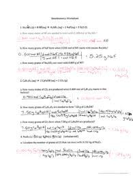 stoichiometry worksheet fill online printable fillable blank