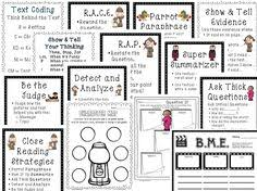 close reading providing text evidence worksheets texts and
