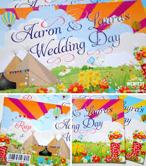 festival ticket wedding invites wedfest